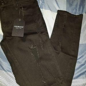 Ladies distressed jeans
